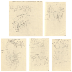 Marching for Burma - Drawings 11-14