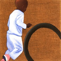 Africa Journal: Boy with tyre 2