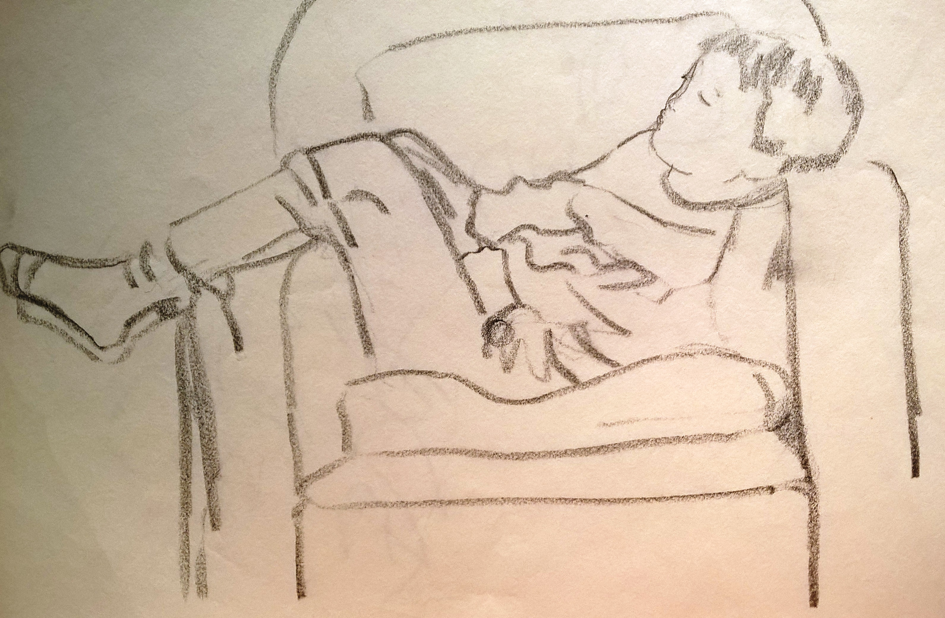 Mike in armchair