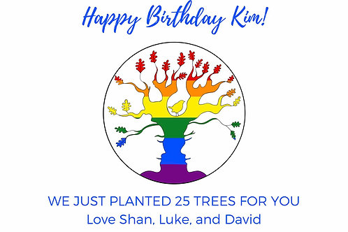 Happy Birthday Rainbow AST Tree