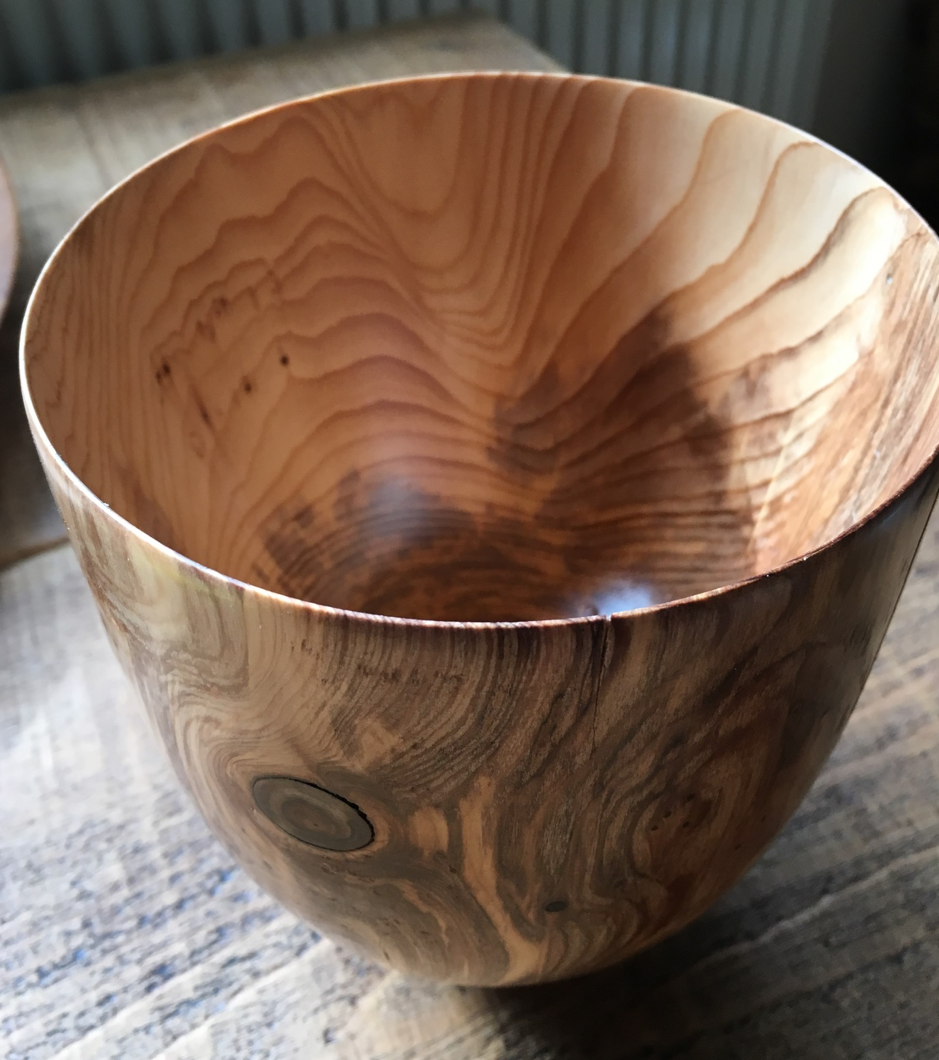 The patterns of its life that are part of the spirit of the wood in this yew bowl by Pete Thompson