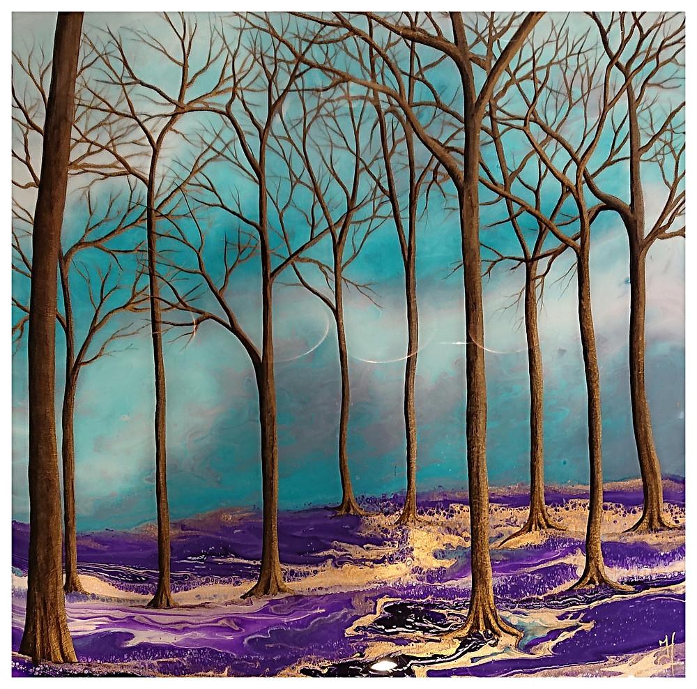 Blue bell glad painting jennifer harrison
