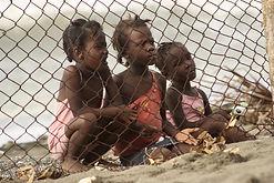 3 children in Haiti by David Greenwood-