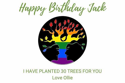 Black Rainbow AST Birthday Card