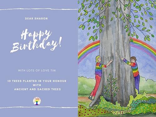 Rainbow Tree Hug Birthday