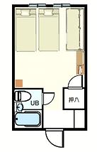 ツインプラス、エキストラベットの洋室。3名まで宿泊できます。ユニットバストイレ付