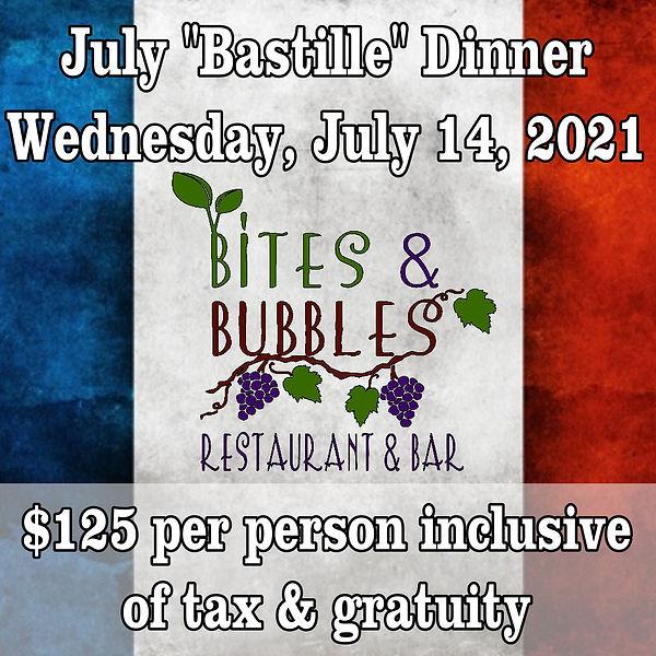 July 2021 Wine Dinner