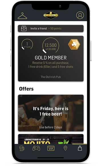 Old Irish Pub Loyalty app