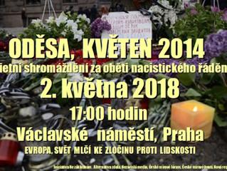 Oděsa - pietní shromáždění za oběti nacistického řádění