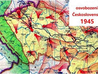 Za osvobození Československa děkujeme sovětské armádě a jednomu vojákovi z USA v Plzni.