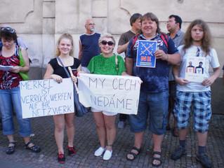 Fotoreportáž z návštěvy Angely Merkelové v Praze dne 25. 8. 2016