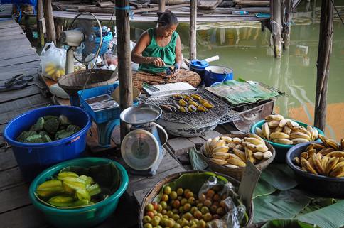 Floating Market, Ayuthaya, Tailandia, 2014