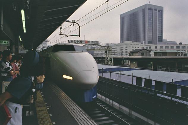 Shinkansen Station, Tokyo, Giappone, 1989