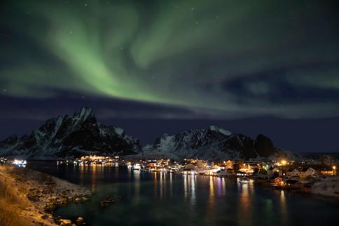 Aurora boreale, Reine, 2019