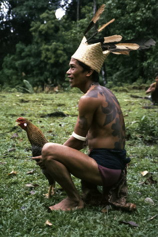 Iban Lemanak, Sarawak, Malesia, 1988