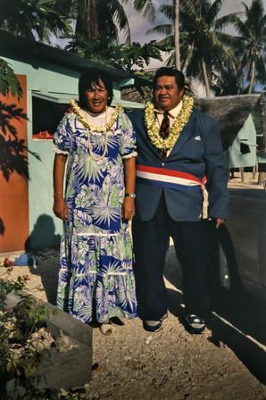 Il Sindaco Nanua e sua moglie, Rangiroa, Polinesia Francese, 1989