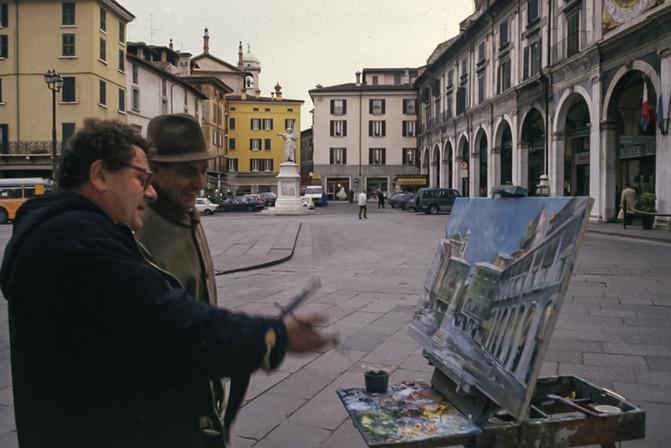 Il pittore Franco Pezzoli, Brescia, 1991