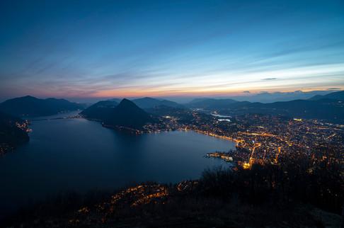 Lugano dal Monte Brè, 2021