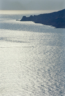 La costa presso Cargese, Corsica, 1990