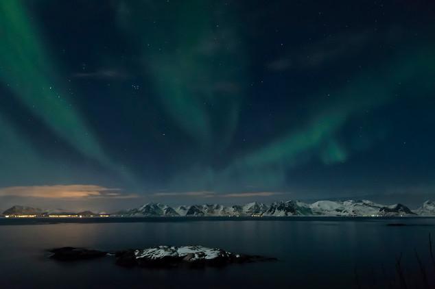 Aurora boreale, Henningsvaer, 2019
