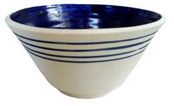 Ref.: 1004 - Tigela com Frisos Azuis