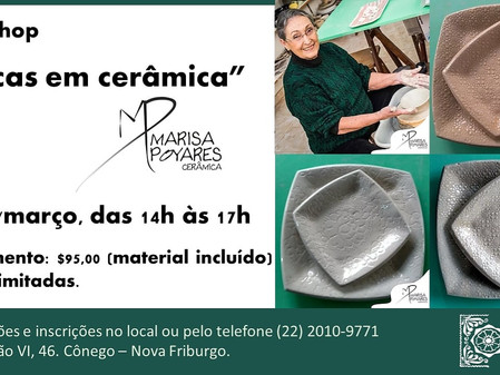 """Workshop   """"Placas em cerâmica"""""""