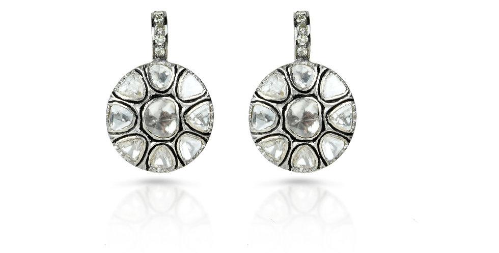 Art Deco Diamond Polki Light Earrings