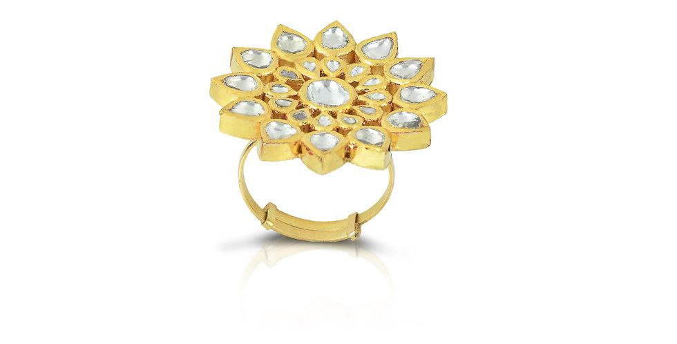Diamond (Polki) Ring in 18K Gold