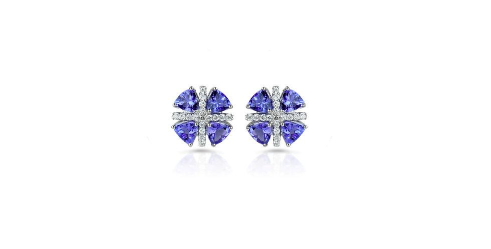 Tanzanite Star Earrings