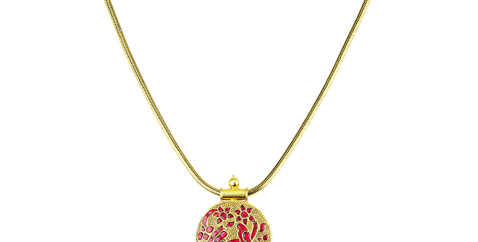 Stering Silver Necklace with Gemstones & Gold Plating