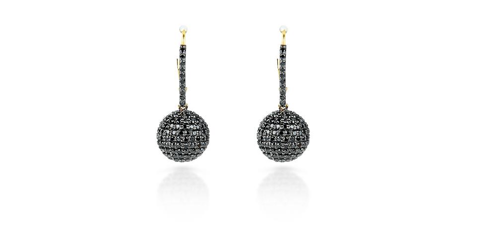 Art Deco Black Diamond Dione Earrings