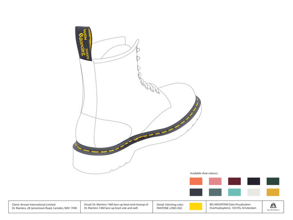 DrMartens 1460 boot technical drawing