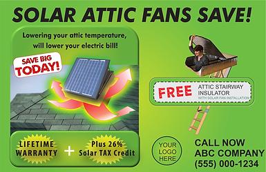 solar fan marketing template, attic stairway insulator marketing