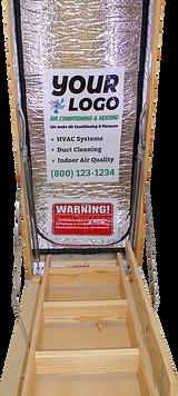 custom printed attic stairway insulators - custom printed attic tents - the attic depot custom printed insulators