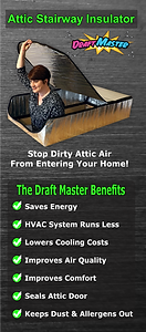 draft master trifold brochure. sales tips for attic stairway insulators. attic tent wholesale