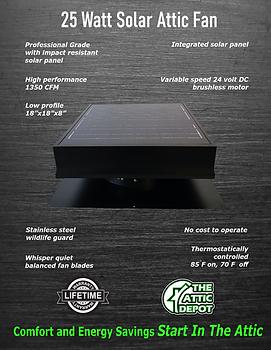 25 watt solar attic fan, wholesale 25 watt solar fans, 25 watt solar royal, 25 watt attic breeze