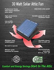 30 watt solar fan brochure, wholesale solar attic fan, solar ventilation, solar royal, attic breeze
