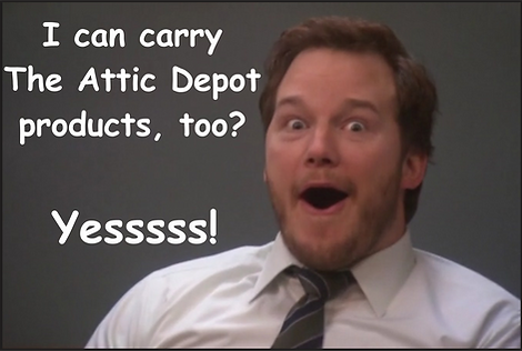 the attic depot training, solar fan training, sell attic depot products, add products to my business