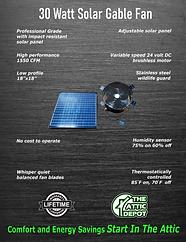 gable solar fan brochure, wholesale solar attic fan, solar ventilation, solar royal, attic breeze