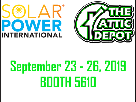 The Attic Depot at the Solar Power International Trade Show!