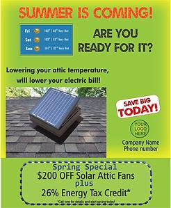 solar fan marketing template