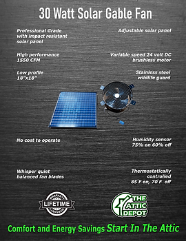 30 watt solar gable fan, wholesale 30 watt solar fan brochure