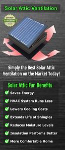 solar attic fan trifold brochures. sell wholesale solar ventilation. solar attic fans. solar royal. attic breeze