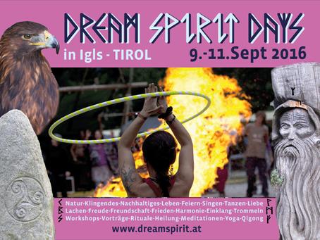 DREAM SPIRIT DAYS - 09-11 Sept 2016