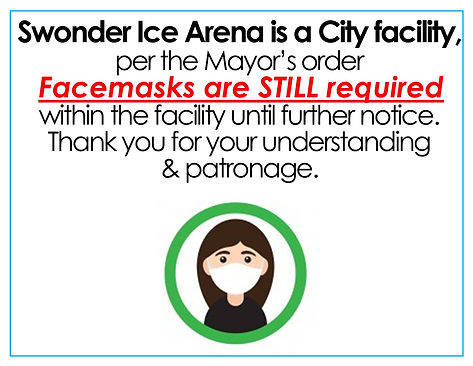 2 Face Masks REQUIRED City Facility per