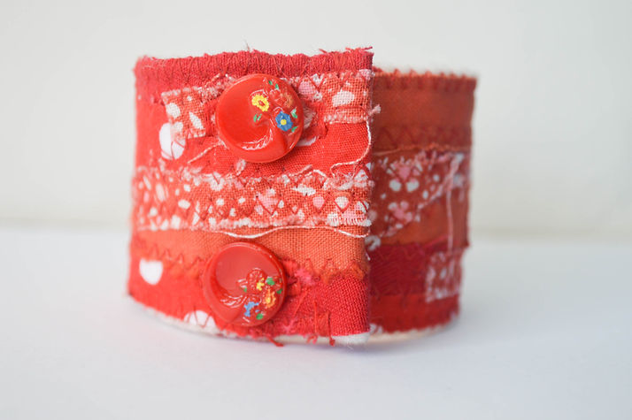 Recycled fabric cuff