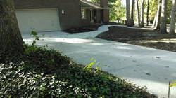 concrete driveway and path