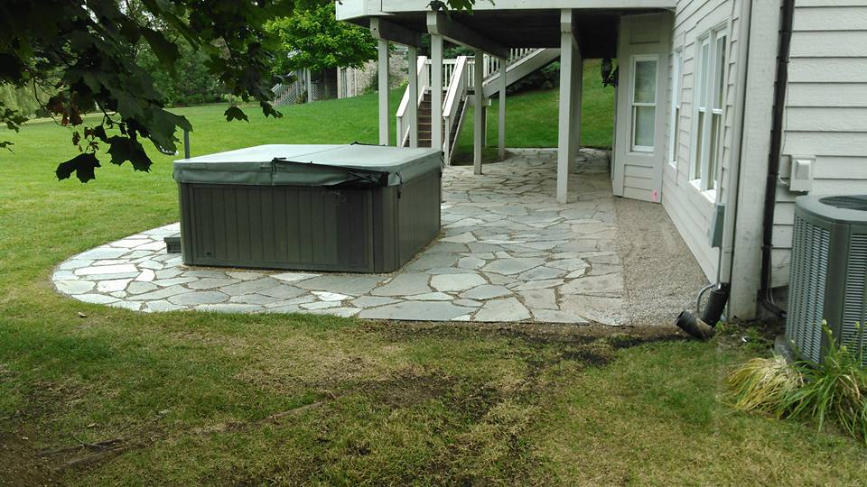 decorative slate patio