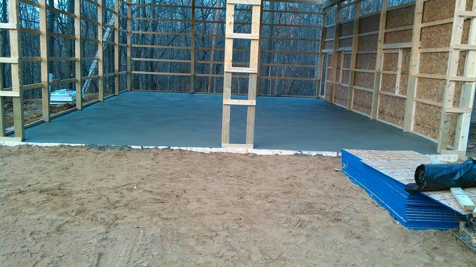 pole barn construction & floor