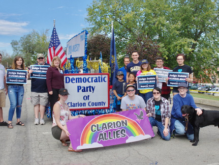 Clarion Dems Participate in ALF Tournament of Leaves Parade